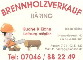 Gemeinde Zaberfeld Brennholzverkauf Häring